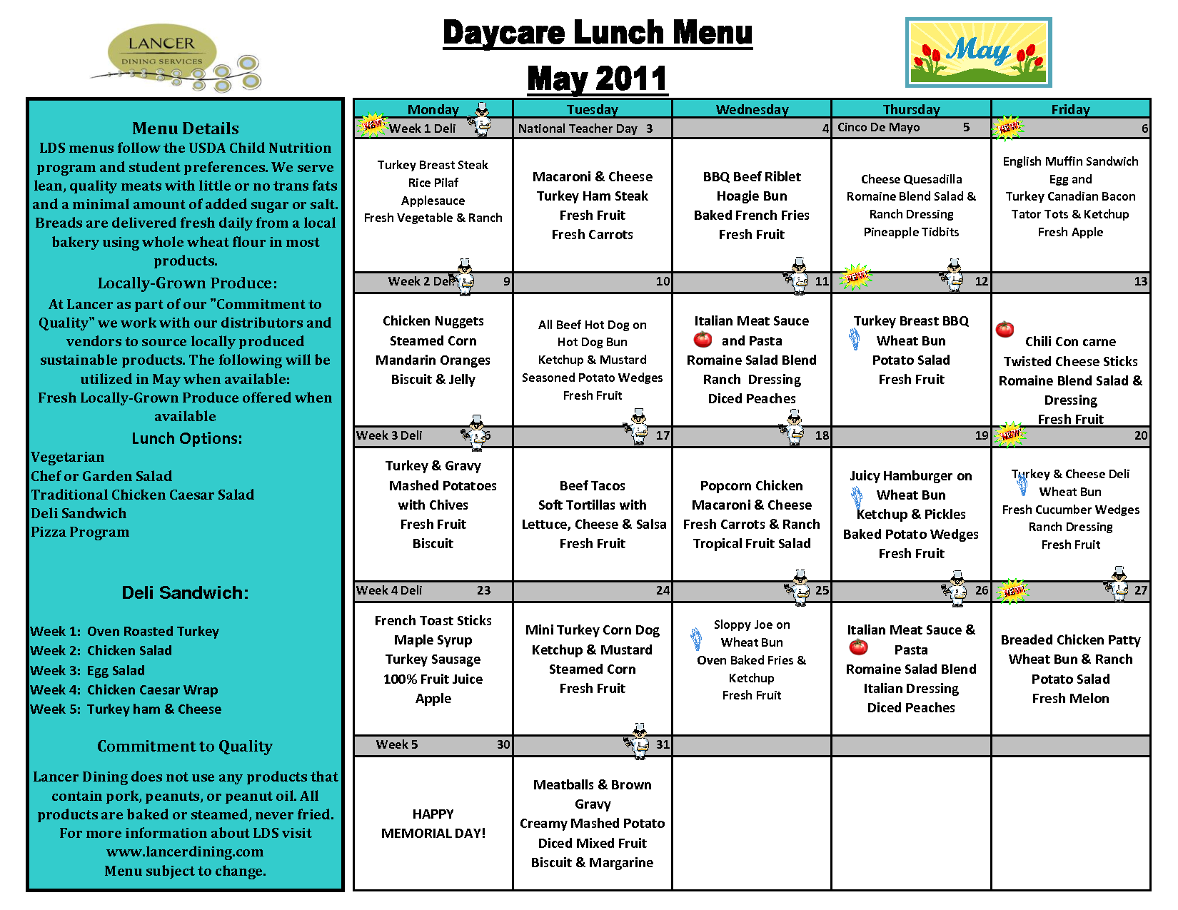 DayCareLunchMenuTemplate  Awesome Lists    Lunch