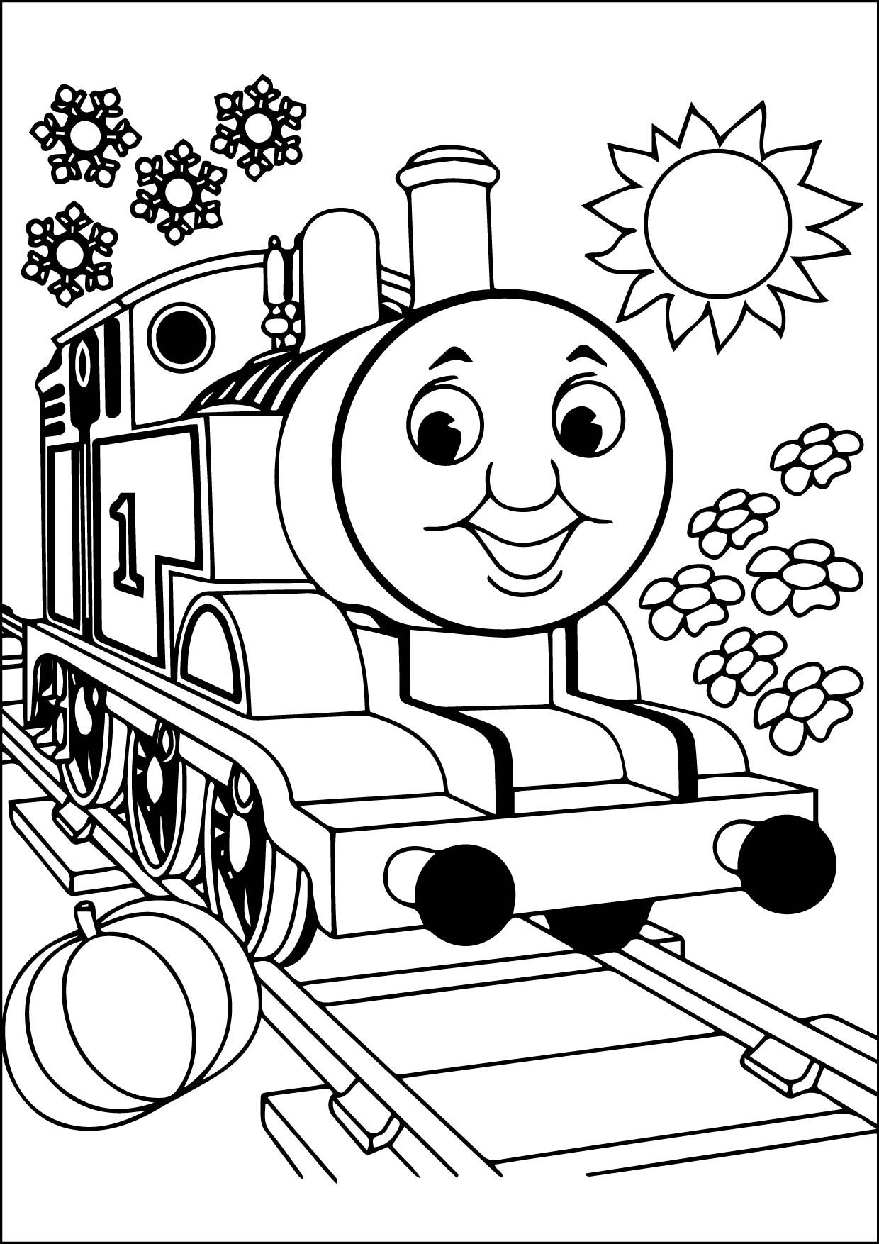 Kids Thomas The Train Coloring Pages Toby