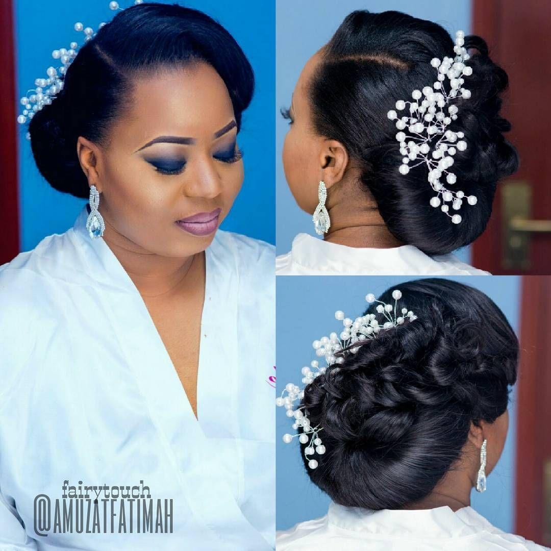 16 Gorgeous Wedding Hairstyles For Nigerian Brides By Hair Stylist Wedding Hair Style Nigerian Wedding Hairstyles Wedding Hair Inspiration Short Wedding Hair