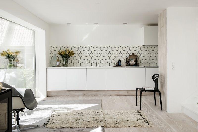 Keuken inspiratie | Keukenbehang | Waterbestendig, hittebestendig en afwasbaar | Behangfabriek |HEXAGON 1418
