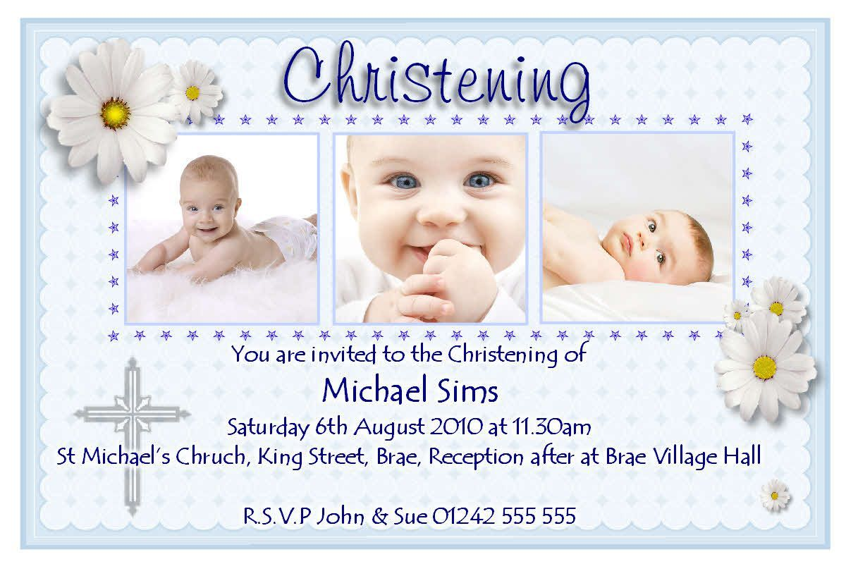Christening Invitation Cards Templates Free