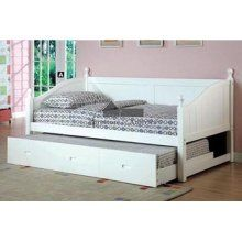 55 Roberta 11 Cottage Style White Daybed Trundle Bed Daybed With Trundle Ikea Bed Design