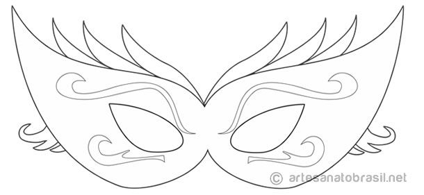 10 m scaras de carnaval para colorir pintar e brincar - Mascaras para carnaval ...