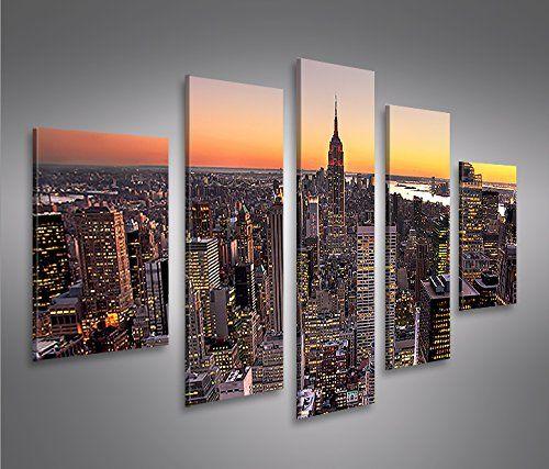Offerta di oggi - New York City MF 5 Quadri moderni su tela - pronti ...