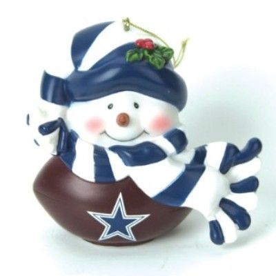 Dallas Cowboys, Official Christmas Football Light Up Musical Snowman