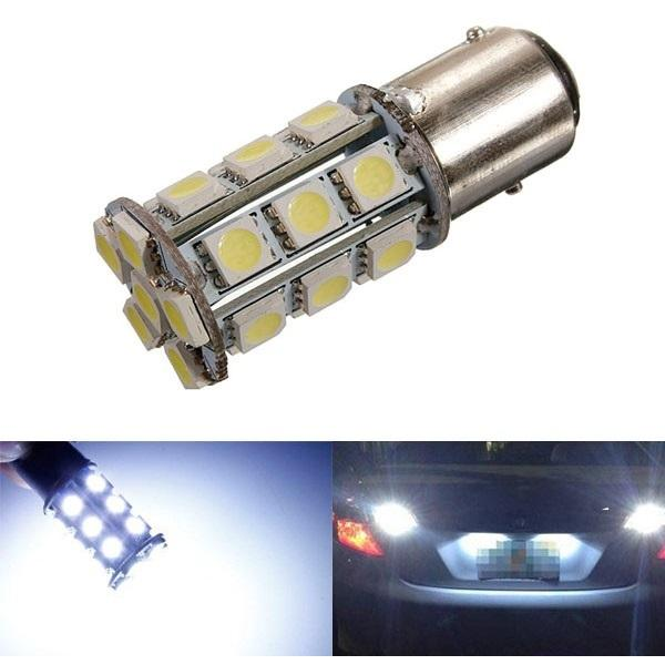T25 1157 Bay15d White 24 5050 Smd Led Car Stop Tail Brake Light Bulb Light Bulb Car Lights Led