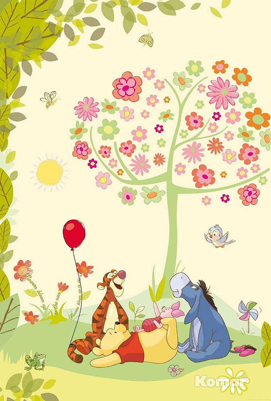 Fototapete Kindertapete Winnie Pooh Disney Cartoon Kinderzimmer ...