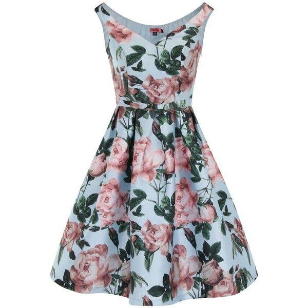 Chi Chi London Floral Print Bardot Midi Dress ( 84) ❤ liked on Polyvore  featuring dresses 031648e43
