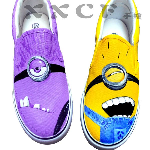 4bdbb874c8 minion vans shoes Despicable Me Unicorn Custom Painted Shoes van ...