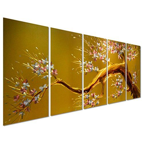 Joys of Spring Cherry Blossom Flower Tree Yellow Large Metal Wall ...
