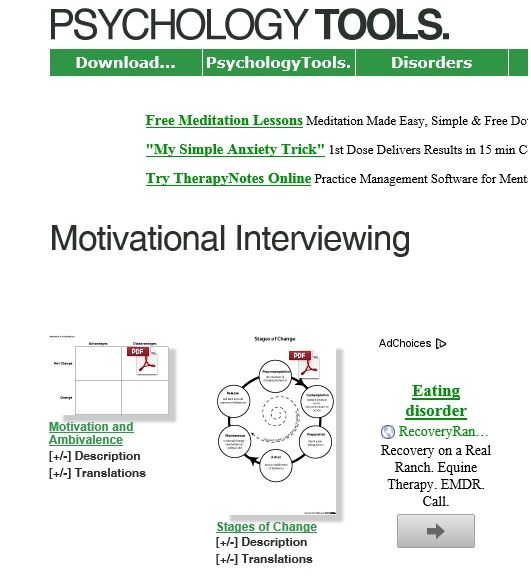 Ychologytools Motivational Interviewing