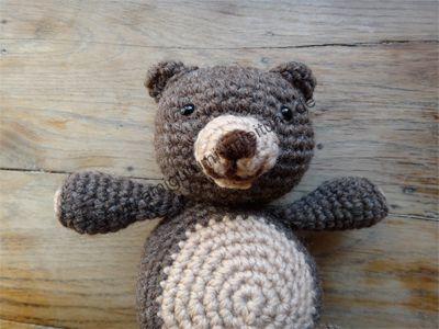 So niedlich sieht Bärlina der Amigurumi-Teddy-Bär aus. Und einfach ...