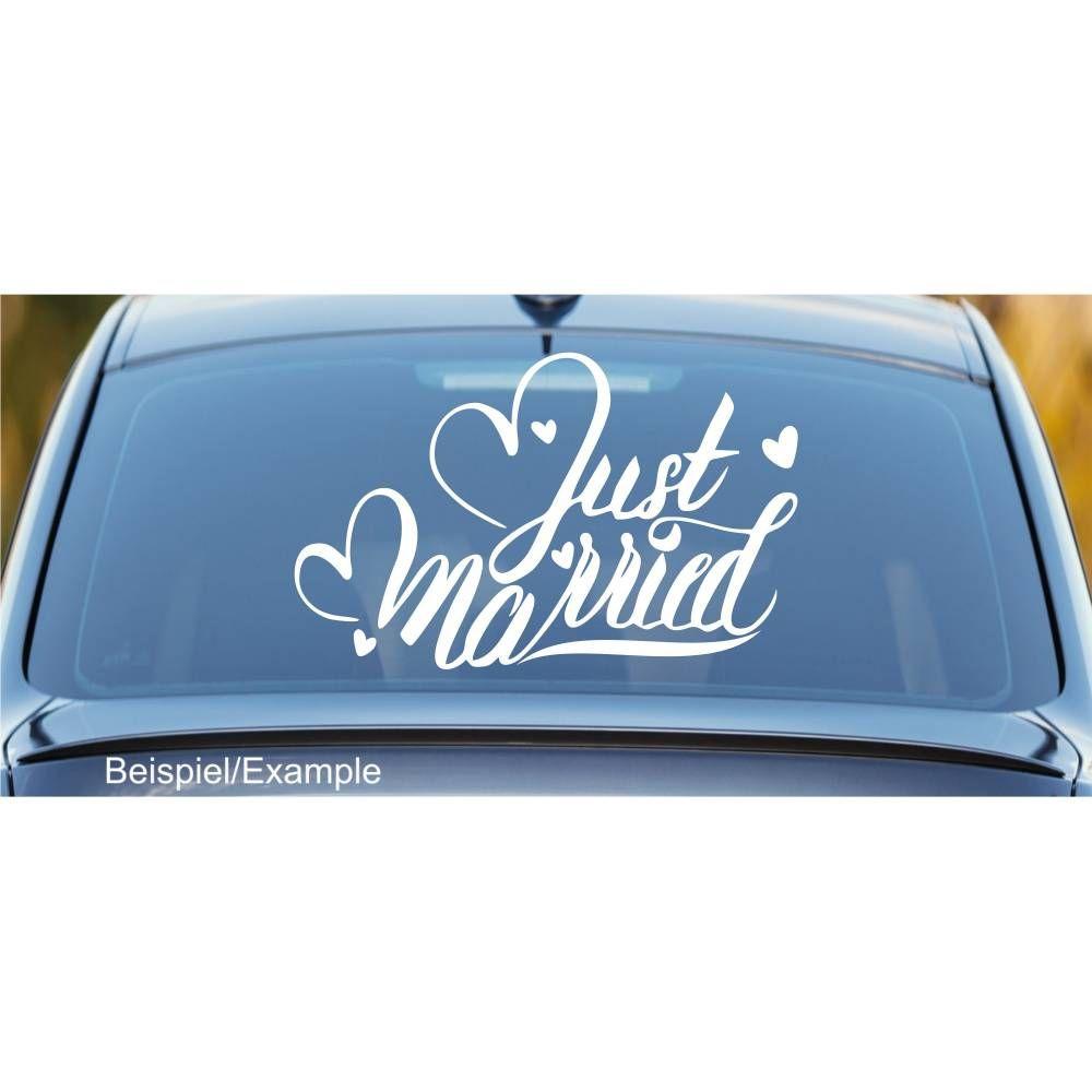 Just Married 03 Autotattoo In Wunschfarbe Hochzeitsaufkleber Hochzeitsdeko Hochzeitsdekoration Hand L Hochzeit Aufkleber Hochzeitsaufkleber Aufkleber