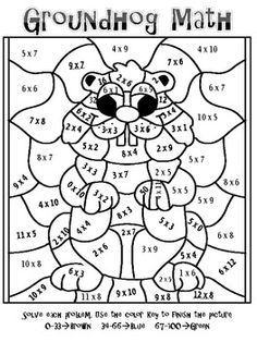 multiplication coloring sheets Multiplication Coloring Worksheets
