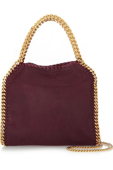 Stella McCartney s iconic  Falabella  bag is the most gorgeous berry shade.  We love the combination with gold. 9d8e6066ce