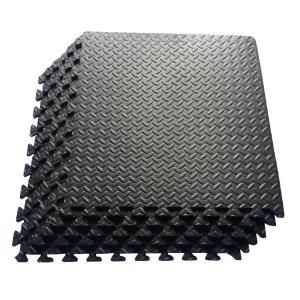 TrafficMASTER 18 in. x 18 in. Rubber Utility Flooring (13.5 sq. ft ...
