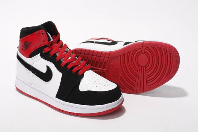watch 03e4a 3ca72 Jordan Alpha 1 Retro High Nike Men Basketball Shoes Leather White Red Black  Suede
