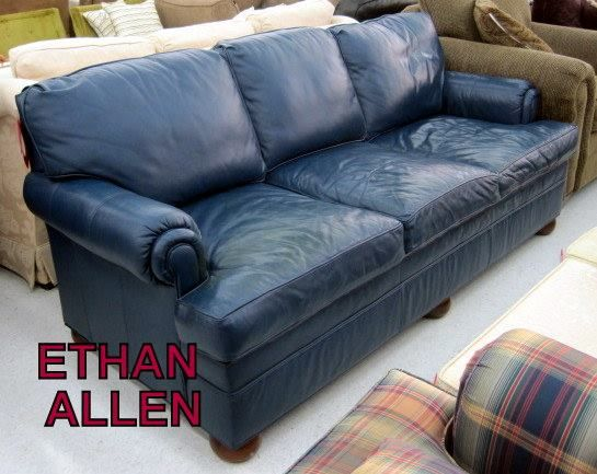 Ethan Allen Leather Sofa 1180886 29999 WOW Thats a great