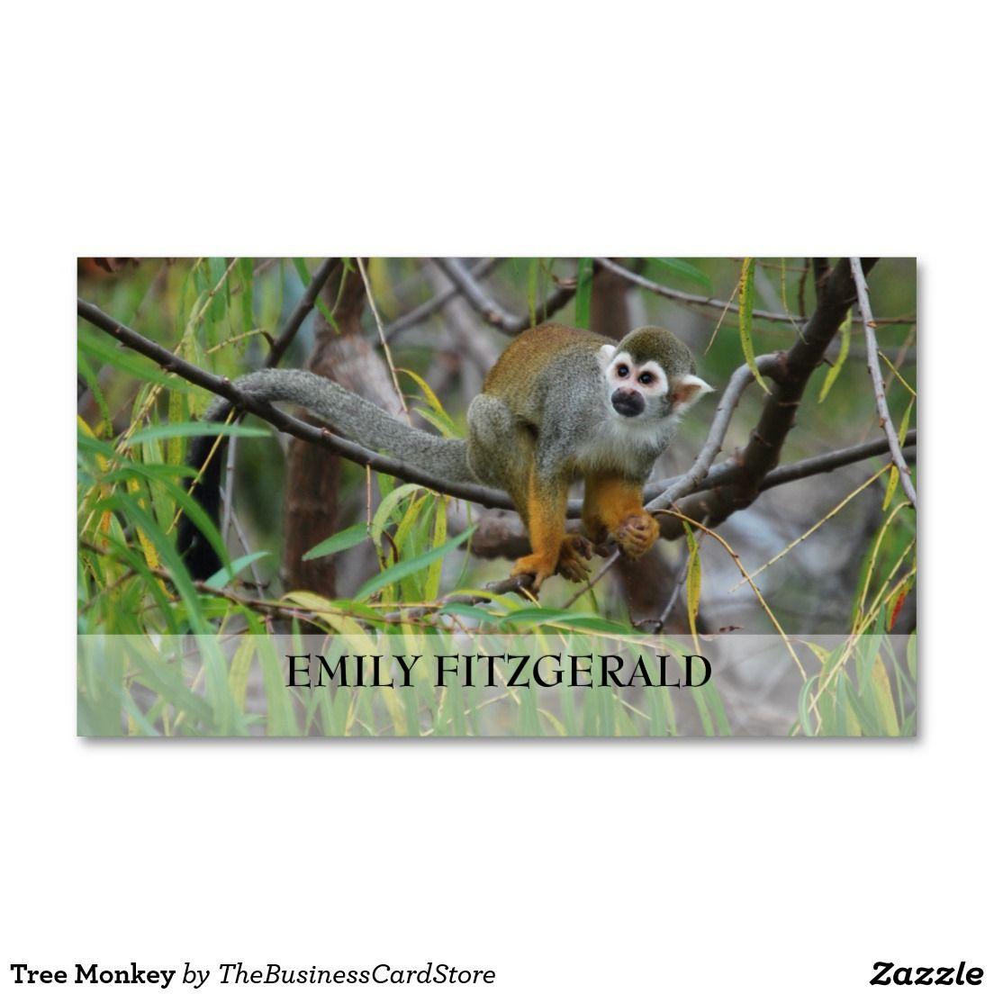 Tree Monkey Business Card | Monkey business, Monkey and Wildlife