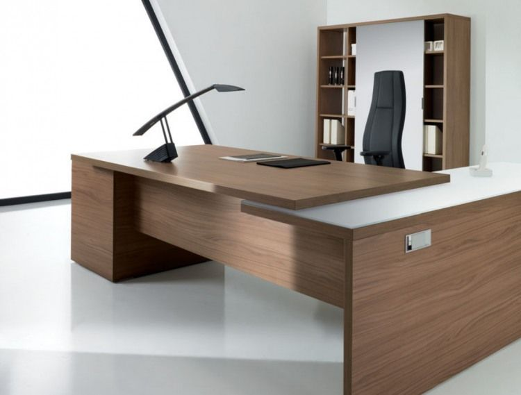 Beautiful modern wood offices escritorios oficina en for Muebles de oficina 77