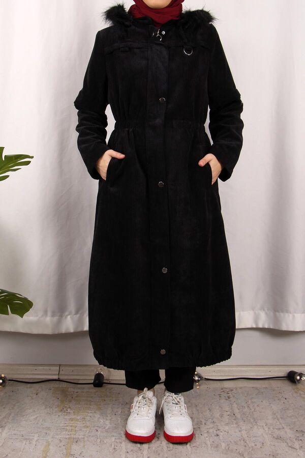 جاكيت أسود مخمل تسوق أون لاين حجاب مودانيسا أزياء محجبات ملابس محجبات فساتين جلباب عباية ملابس فستان تونيك فستان طويل Trench Coat Duster Coat Coat