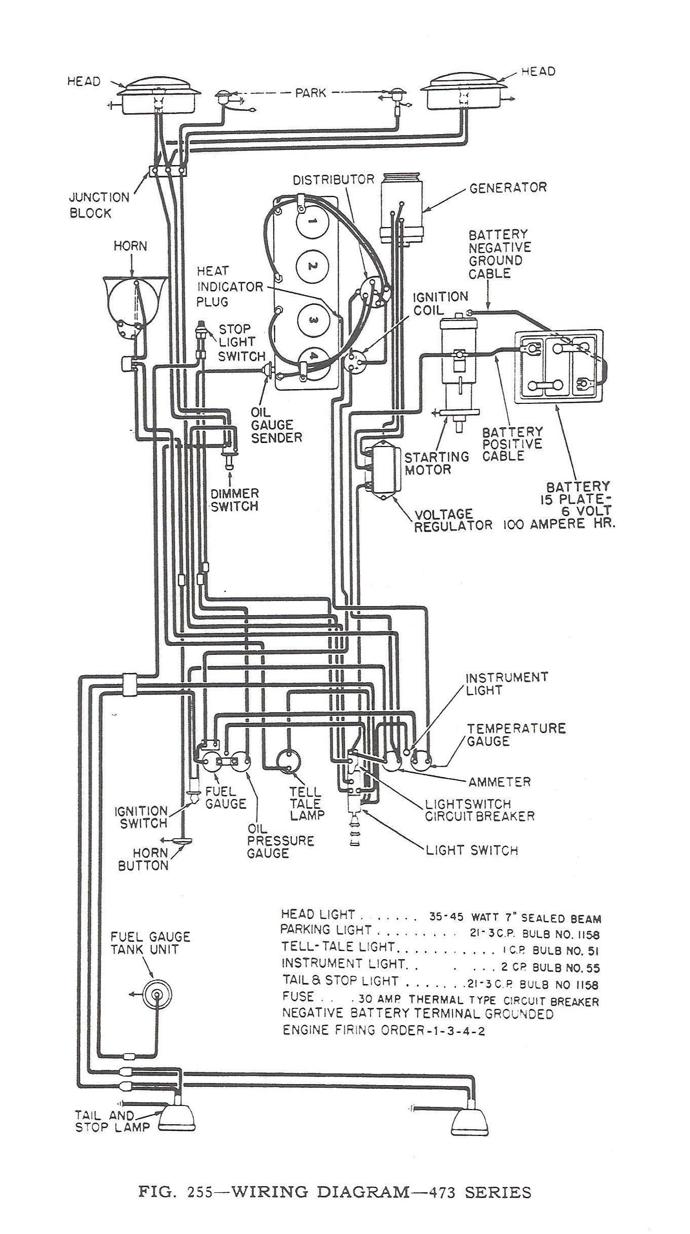 1952 Jeep Series 473 Wiring Diagrams