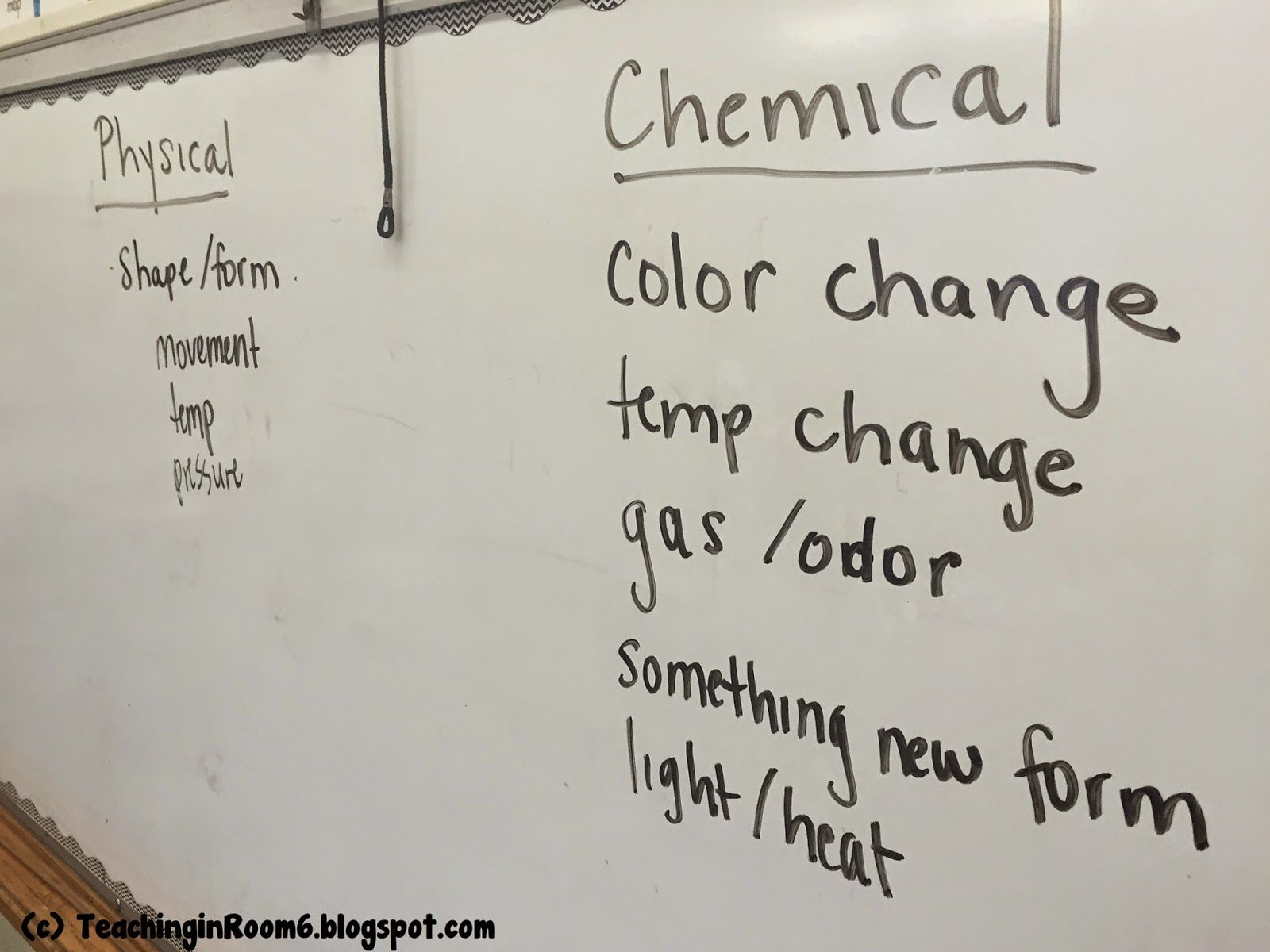 list of evidence of a physical vs chemical change science pinterest chemical change. Black Bedroom Furniture Sets. Home Design Ideas