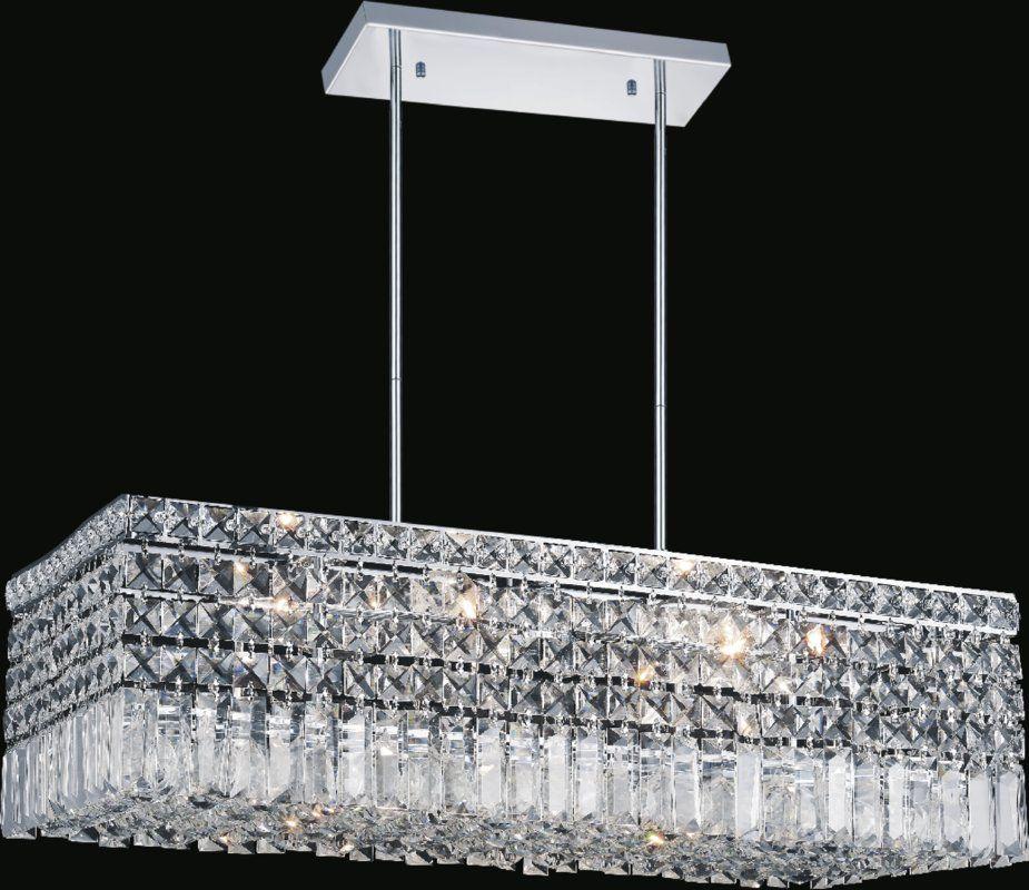 Navya 8 Light Kitchen Island Linear Pendant In 2020 Modern Led Ceiling Lights Kitchen Lighting Led Ceiling Lights
