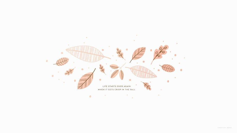Rose Gold Leaves Fall Wallpaper Desktop Wallpaper Fall Minimalist Desktop Wallpaper