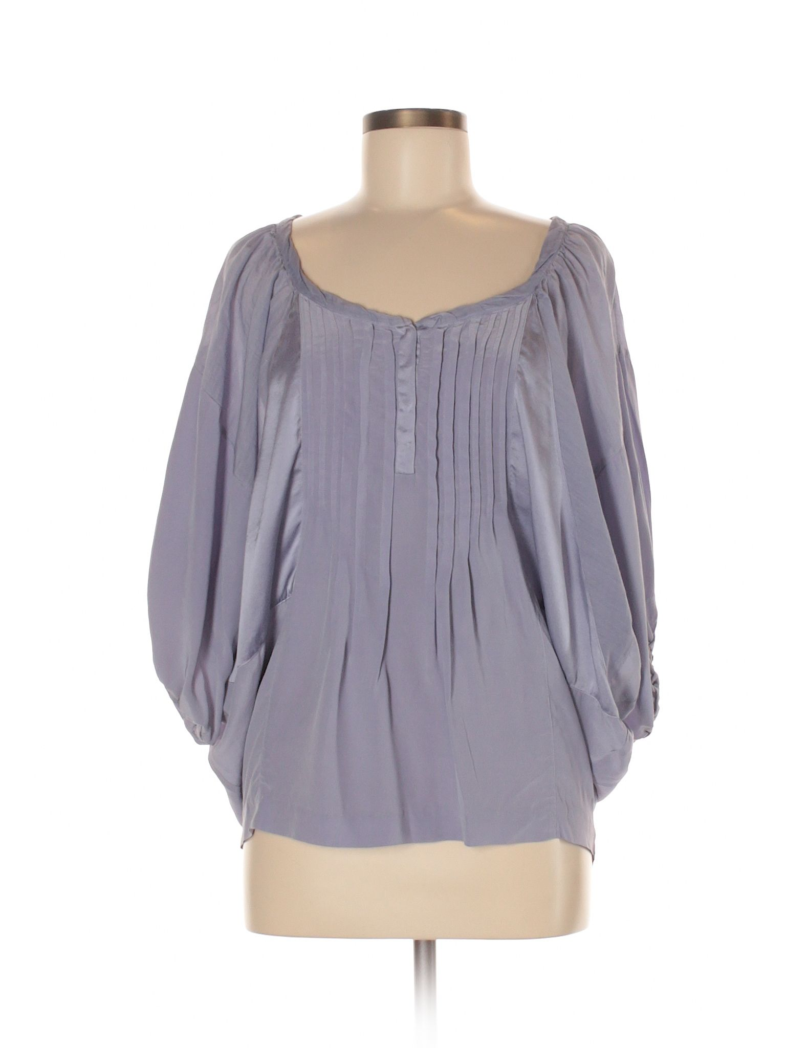 Rebecca Taylor Womens 3//4 Sleeve Silk Top