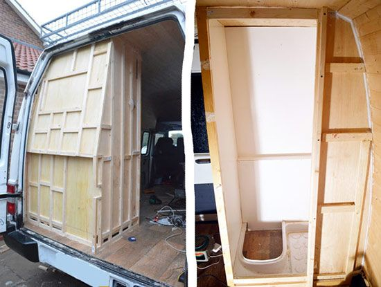 Diy Shower Build For Camper Van Conversion Pinteres