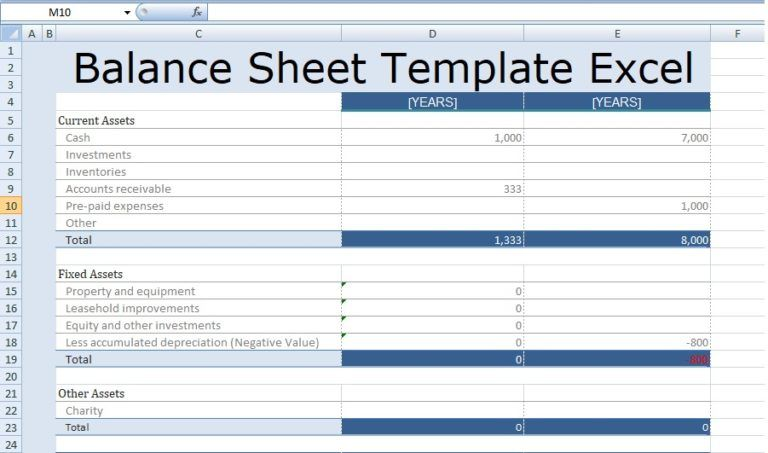 Balance Sheet Template Excel Free Excel Spreadsheet Templates Balance Sheet Template Excel Spreadsheets Templates Balance Sheet