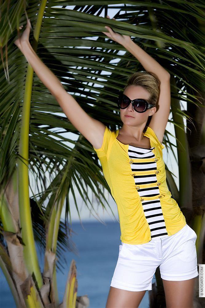 Tops/Tee shirts women Yellow size 40, online buy Tops/Tee shirts woman MODATOI