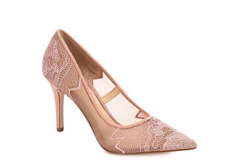Blush Jessica Simpson Womens Lequira Dress Rack Room Shoes With Images Lace Heels Womens Pumps Women