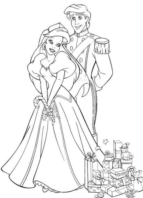 Ariel And Eric Coloring Pages Download Ariel And Eric Wedding