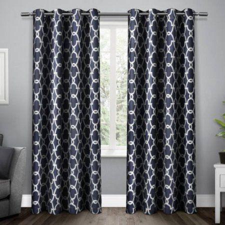 Exclusive Home Gates Sa Woven Room Darkening Grommet Top Window Curtain Panel Pair Mecca Orange