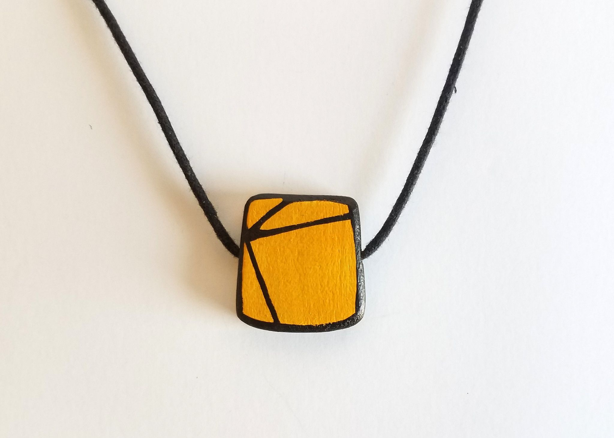 Cadmium Yellow Wood Pendant Products Pinterest