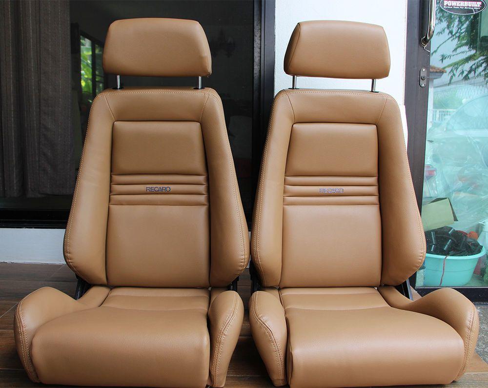 2 Jdm Recaro Specialist Tan Seats Solid Headrest Racing Porche Eg Ek Auto Cars Recaro Automotivo Fusca