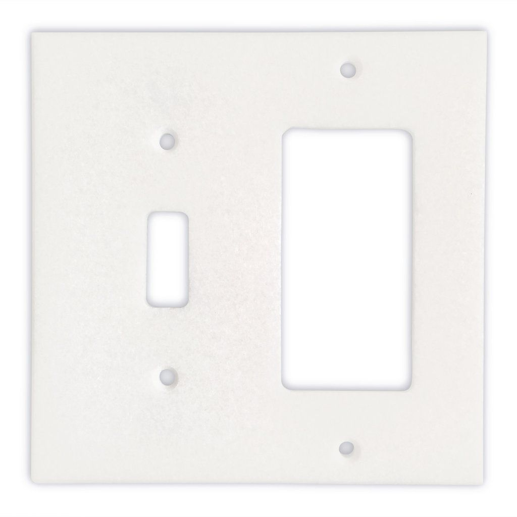 Thassos White Marble Toggle Rocker Switch Wall Plate Switch Plate Cover Polished Switch Plate Covers Plates On Wall Switch Plates