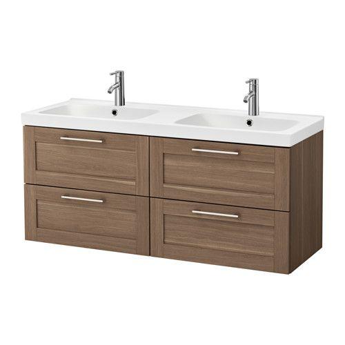 IKEA - GODMORGON   ODENSVIK, Sink cabinet with 4 drawers, walnut - ikea meuble salle de bain godmorgon