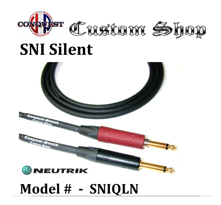 Instrument Cable Conquest Sound cord with VINTAGE style Switchcraft BRASS END