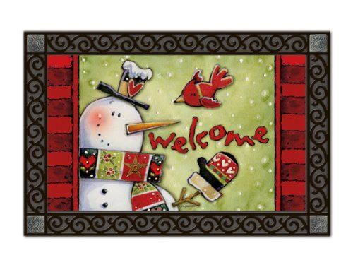 Cold Nose Snowman Welcome Indoor Outdoor Doormat by Magnet Works. $19.99. PLEASE NOTE YOU ARE PURCHASING THE DOORMAT ONLY. THE PICTURE SHOWS THE DOORMAT PLACED IN THE DESIGNER DOORMAT FRAME WHICH IS SOLD SEPARATELY IN OUR STORE. THE DOORMAT CAN BE USED WITHOUT DOORMAT FRAME. This doormat will look beautiful outside your home when placed inside our Designer Doormat Frame, or to show off your mat inside your home use our Comfort Mat to enhance the look of any room...