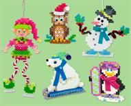 These five characters are celebrating winter and the holidays! Make one or make all five with fun add-ons including pompoms, gems, felt scarves and more. Use them as standing figures or hanging ornaments—perfect for gifting!