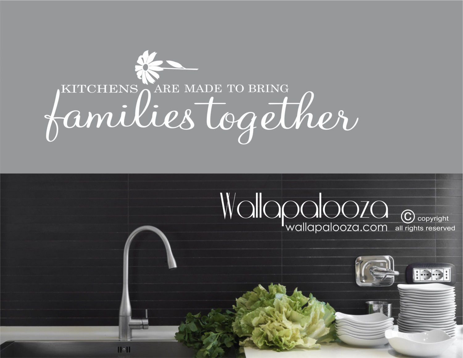 Kitchen wall art kitchens bring families together wall decal