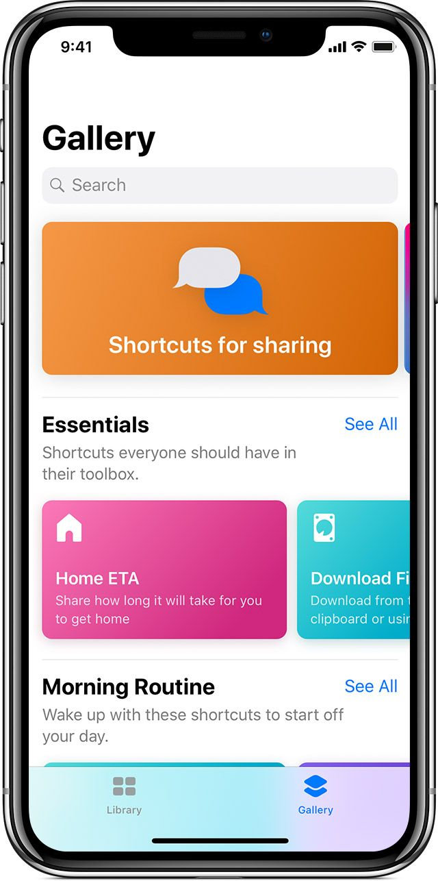 Use the Shortcuts app on your iPhone or iPad Apple