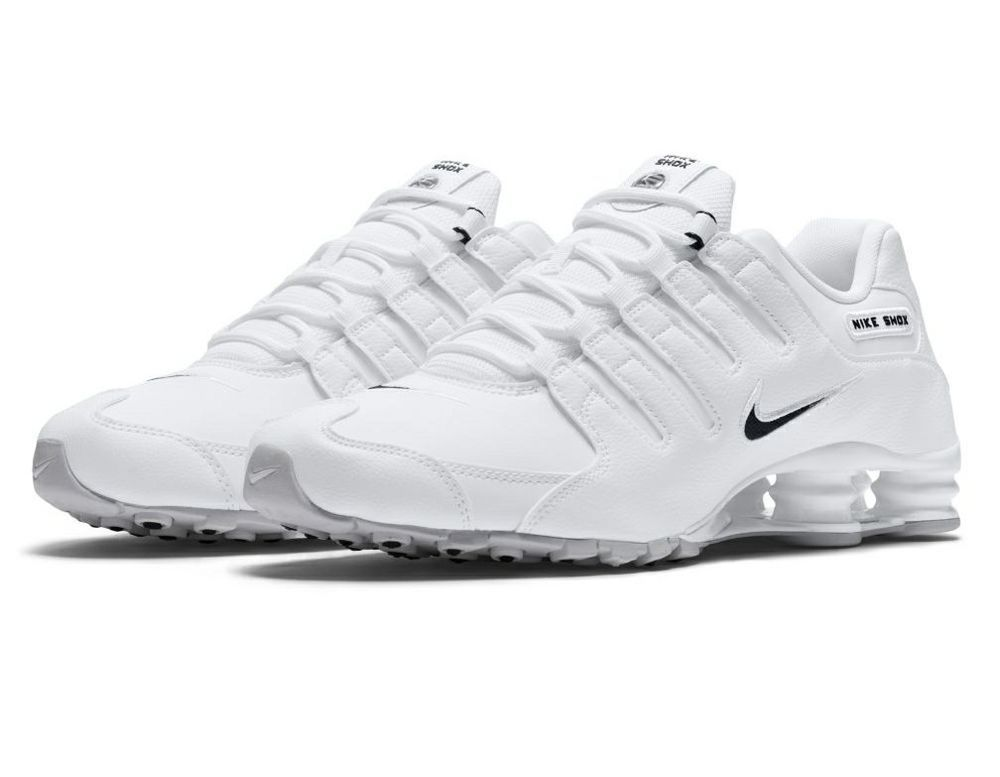 9bafbee8578c1d Mens Nike Shox NZ Size 14 White leather with Black logo  fashion  clothing   shoes  accessories  mensshoes  athleticshoes (ebay link)