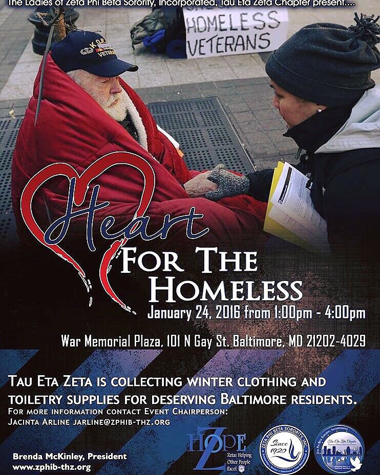 THZ Heart for the Homeless, Jan 24th! Help us help our