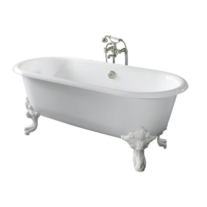 Kallista | Croquet White Circe Cast Iron Claw Foot Bathtub With Primed  Exterior, Less Feet