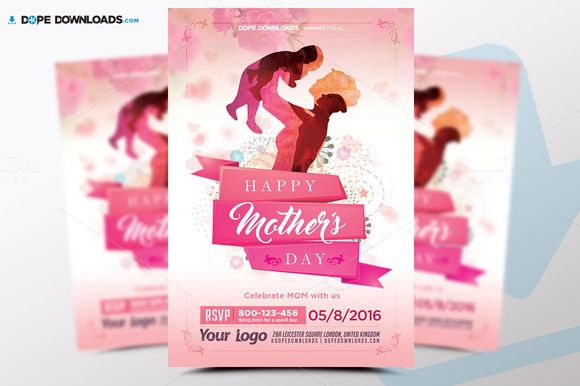 MotherS Day Flyer Template By Dopedownloads On Creativemarket