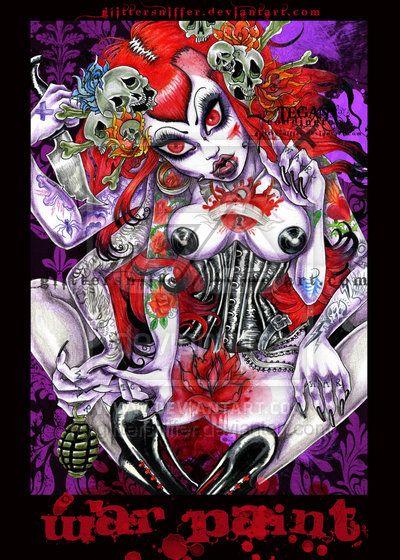 -war paint- by ~glittersniffer on deviantART